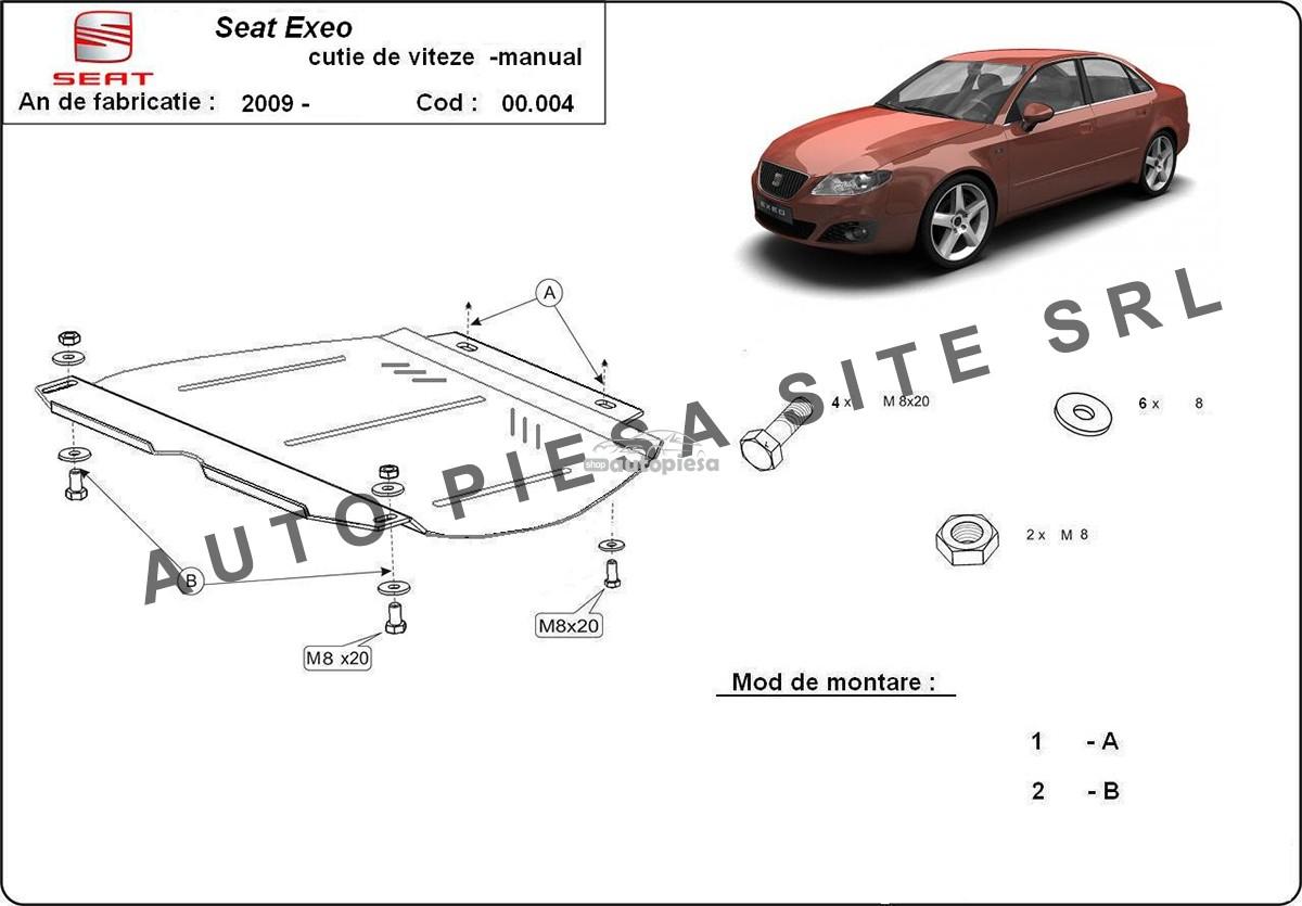 Scut metalic cutie viteze manuala Seat Exeo fabricat incepand cu 2009