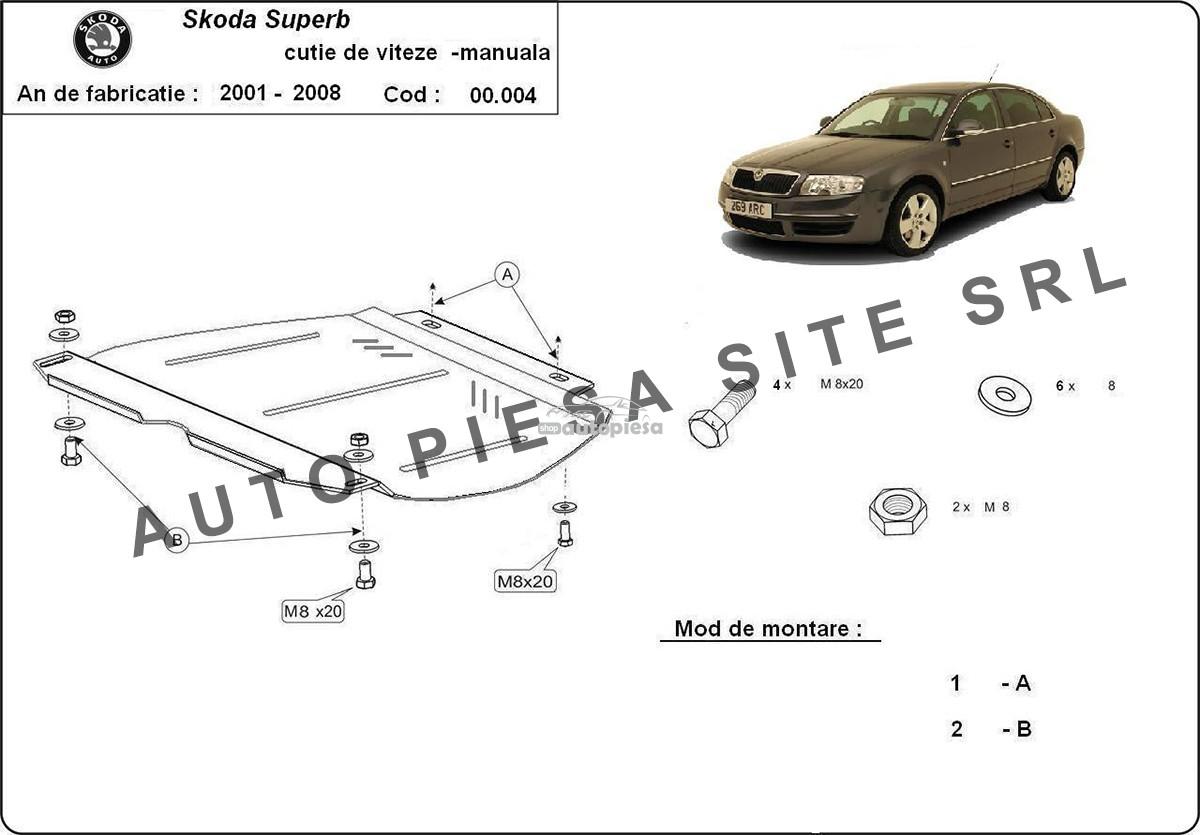 Scut metalic cutie manuala Skoda Superb fabricata in perioada 2001 - 2008 00004-Skoda-Superbcutie-manuala.jpg