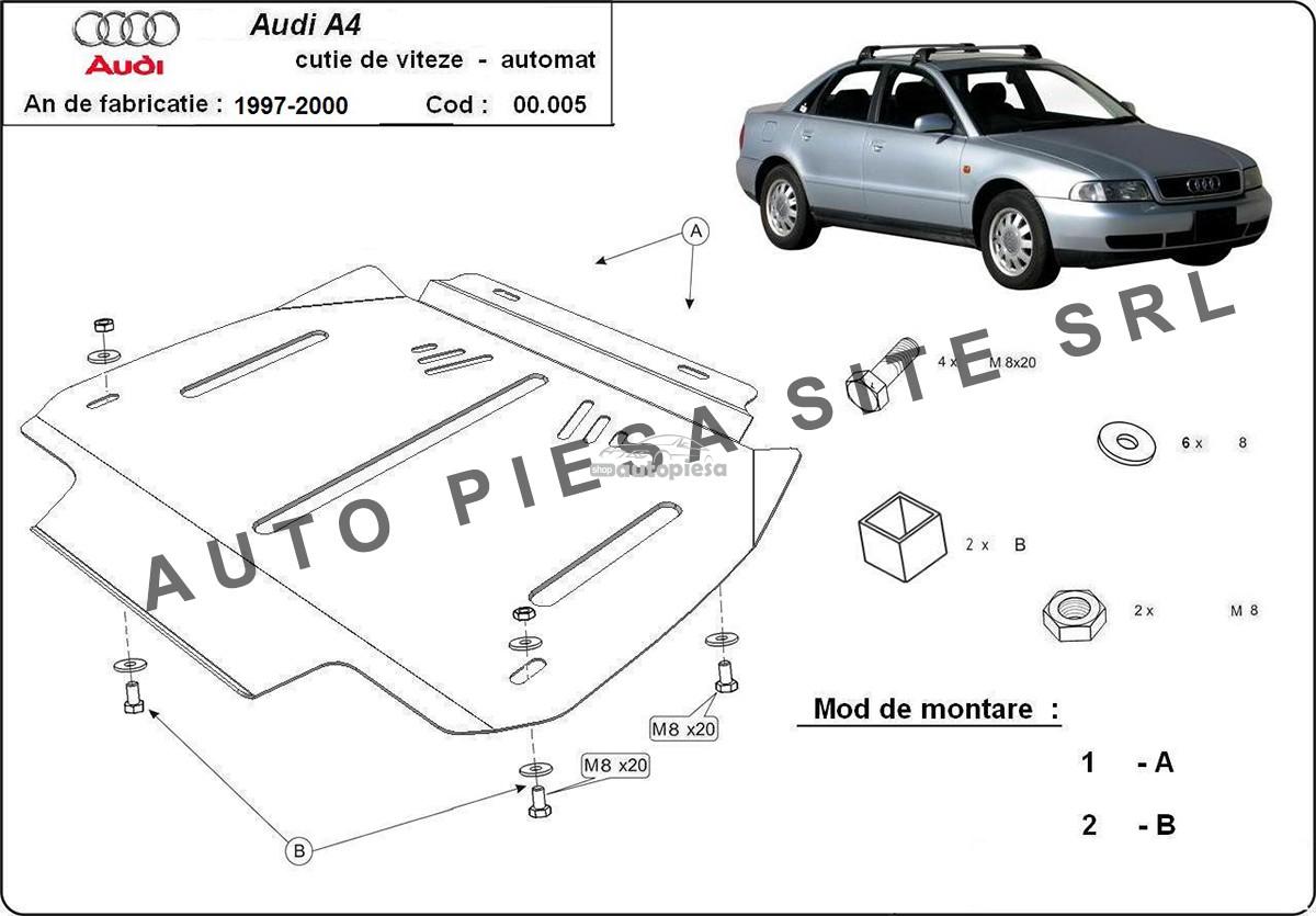Scut metalic cutie viteze automata Audi A4 B5 (4 cilindrii) fabricat in perioada 1995 - 2001