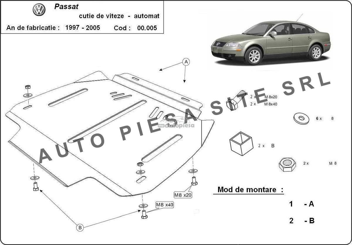 Scut metalic cutie viteze automata VW Passat (3B3, 3B6) fabricat in perioada 2001 - 2005