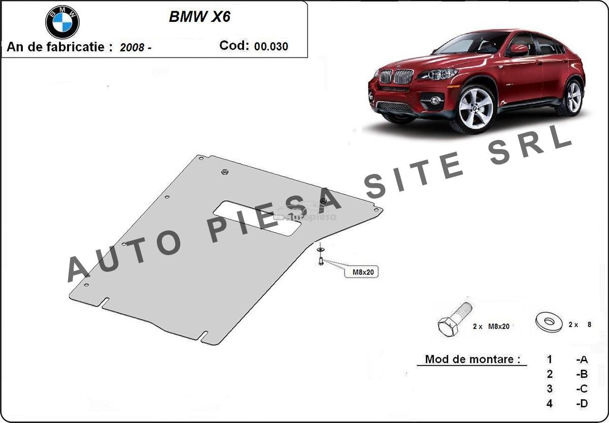 Scut metalic cutie viteze BMW X6 E71 / E72 fabricat incepand cu 2008