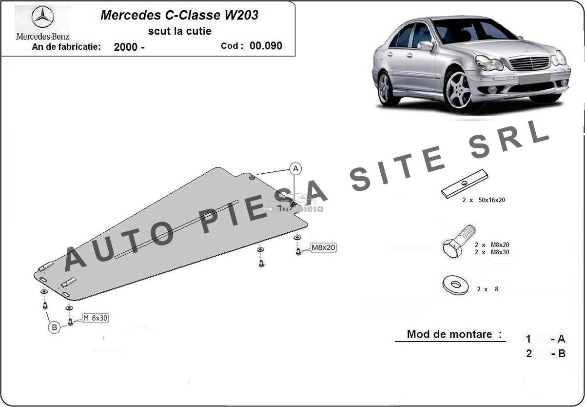 Scut metalic cutie viteze Mercedes C-Class W203 fabricat incepand cu 2000
