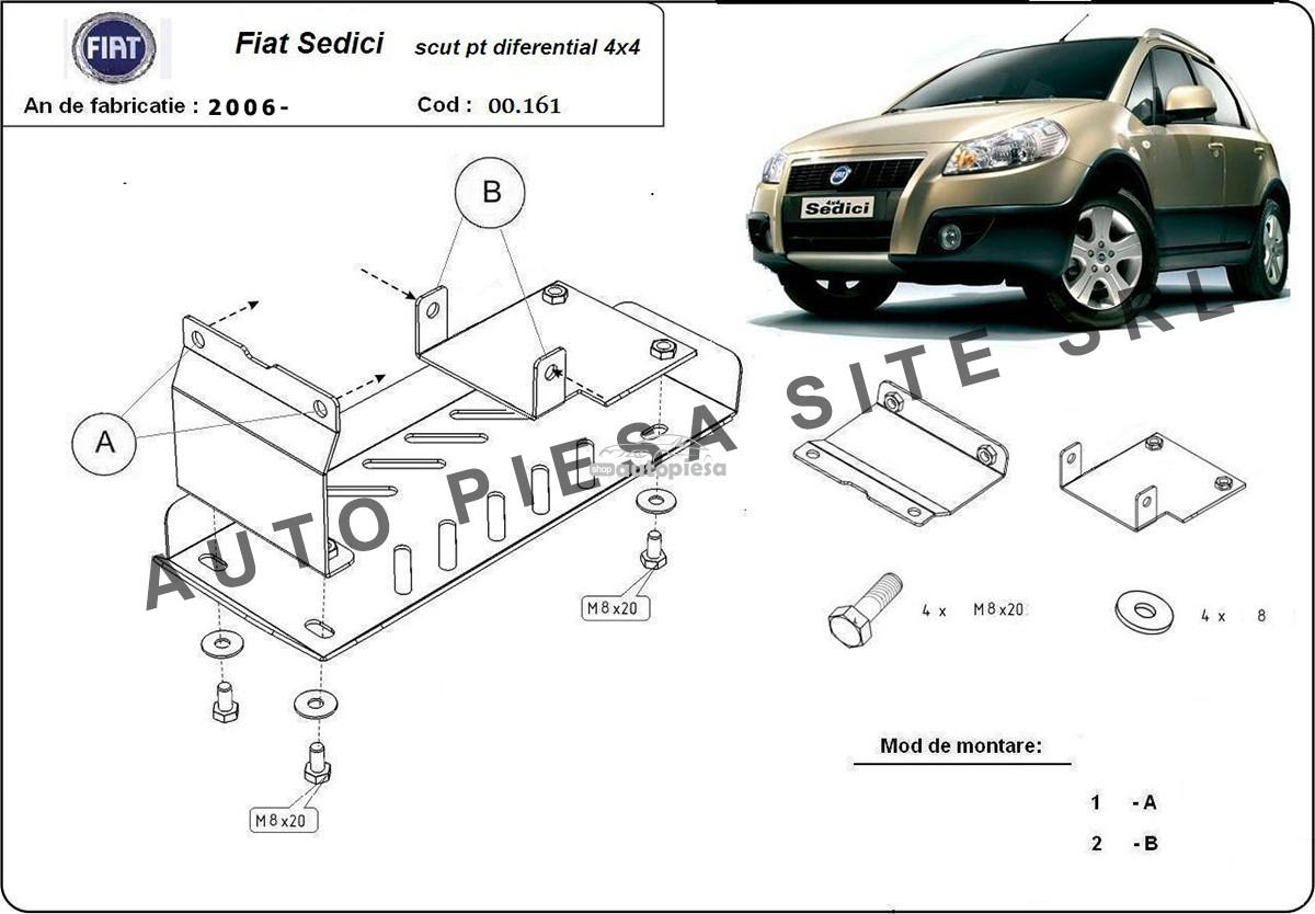 Scut metalic diferential Fiat Sedici fabricat incepand cu 2006