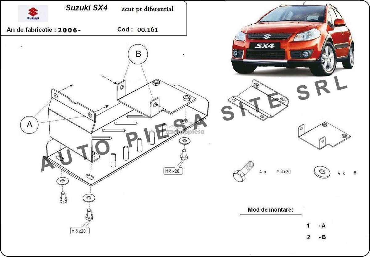 Scut metalic diferential Suzuki SX4 4X4 fabricat incepand cu 2006