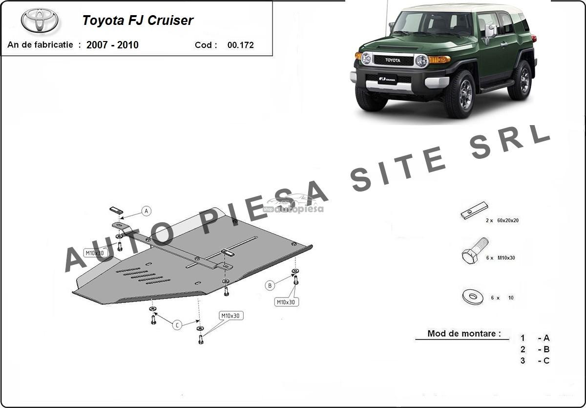 Scut metalic cutie viteze Toyota FJ Cruiser fabricata incepand cu 2007 - 2010
