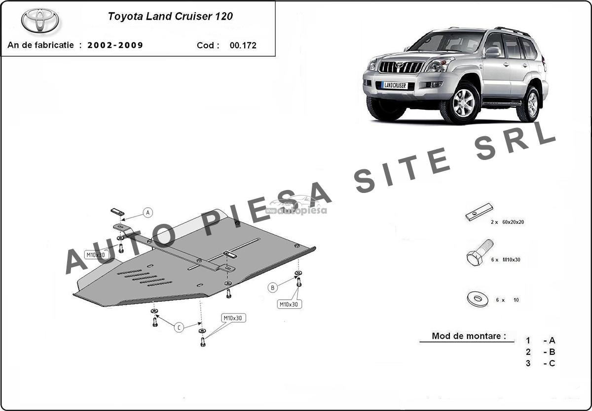 Scut metalic cutie viteze Toyota Land Cruiser fabricata in perioada 2002 - 2009