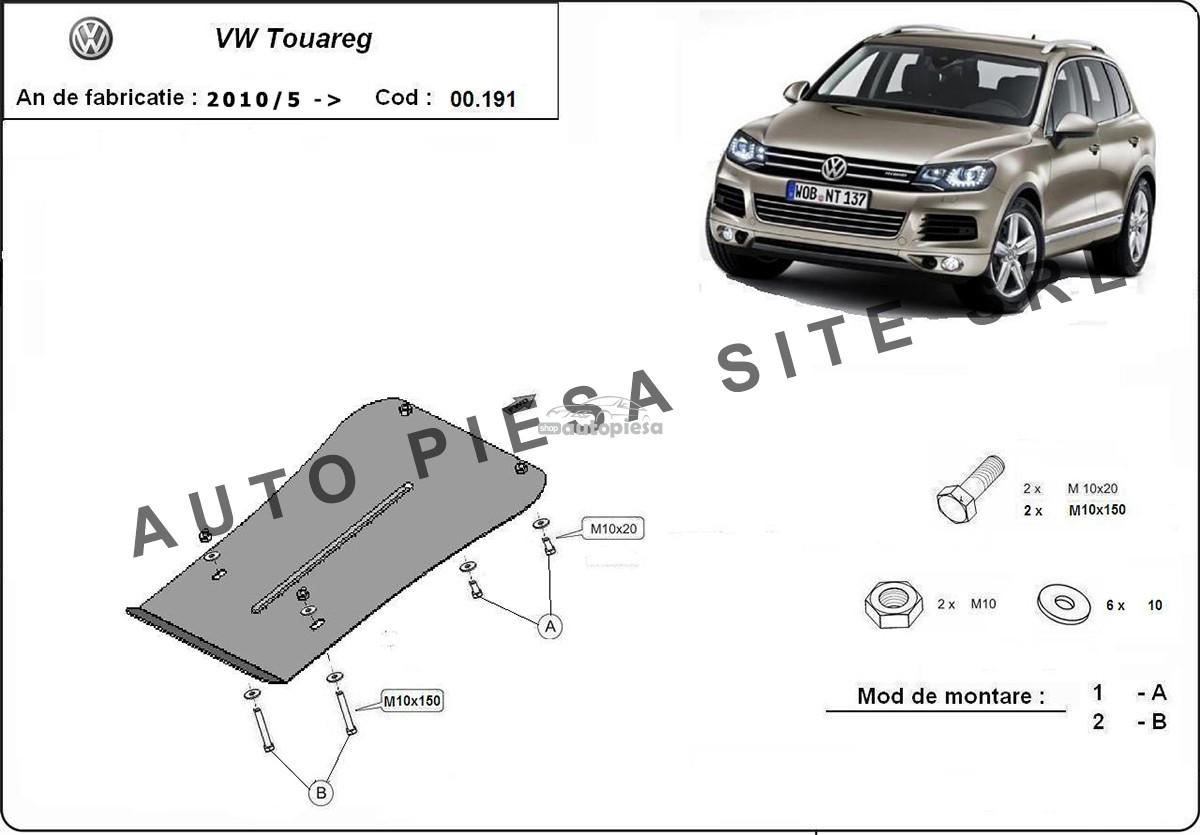 Scut metalic cutie viteze VW Touareg  fabricat incepand cu 2010