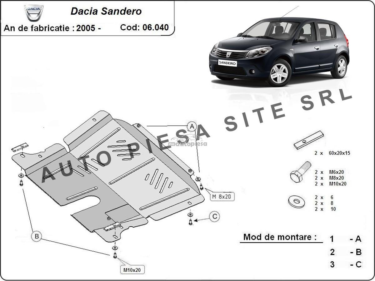 Scut metalic motor Dacia Sandero 1 I fabricata incepand cu 2005
