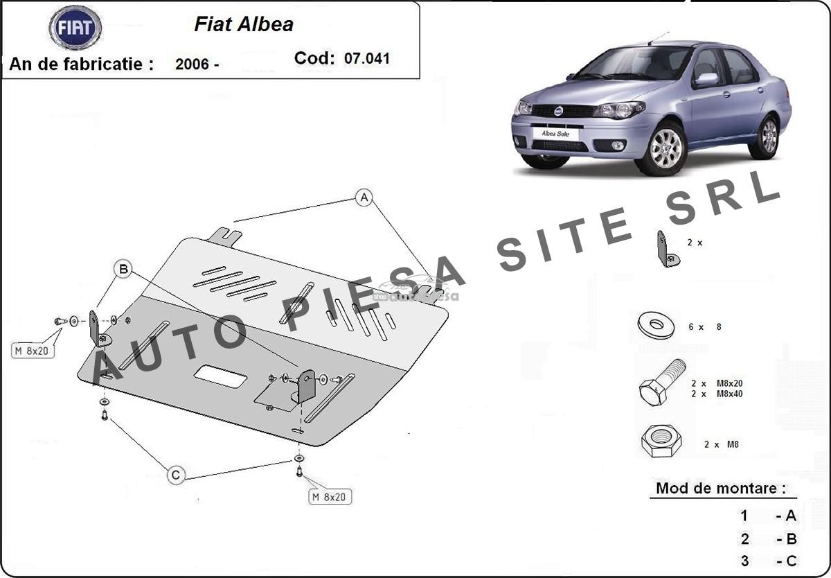 Scut metalic motor Fiat Albea fabricat incepand cu 2006