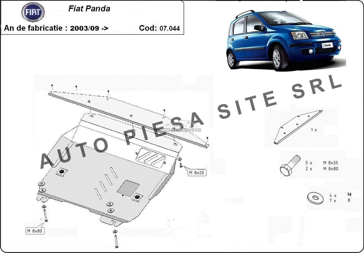 Scut metalic motor Fiat Panda fabricat incepand cu 2006