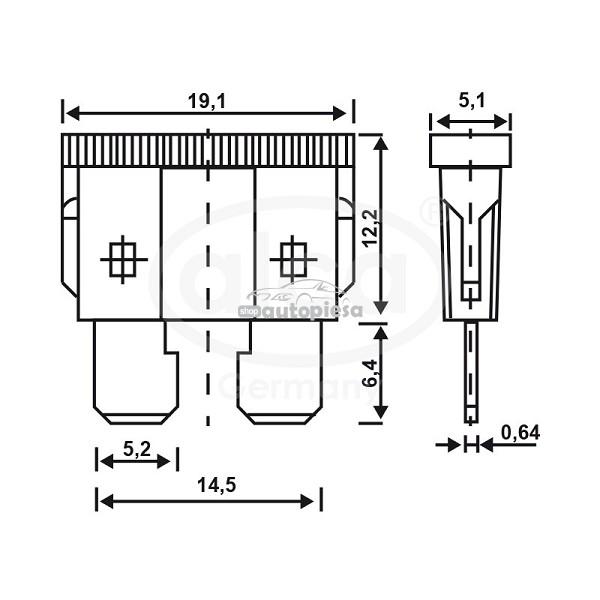 Set 5 sigurante fuzibile standard 25A ALCA 08348_2704502.jpg