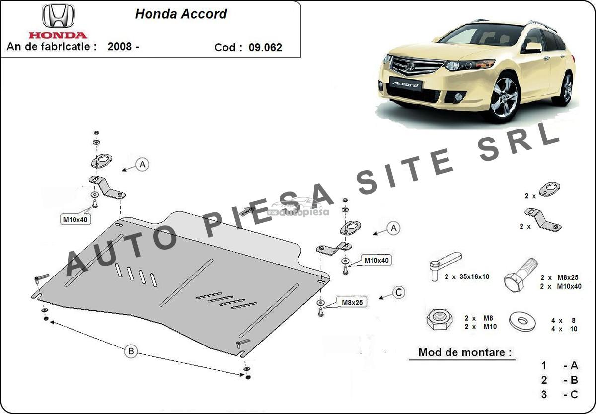 Scut metalic motor Honda Accord 8 VIII 2.0 / 2.4 fabricata incepand cu 2008