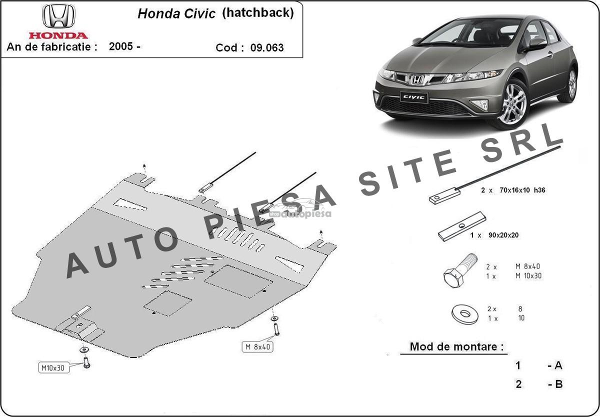 Scut metalic motor Honda Civic 8 VIII hatchback fabricata incepand cu 2005