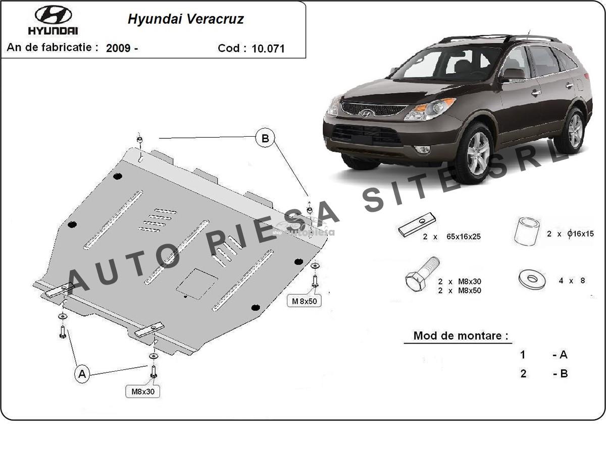Scut metalic motor Hyundai Veracruz fabricat incepand cu 2009