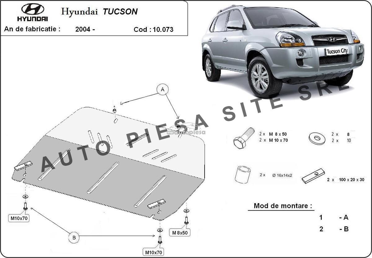 Scut metalic motor Hyundai Tucson fabricat incepand cu 2004
