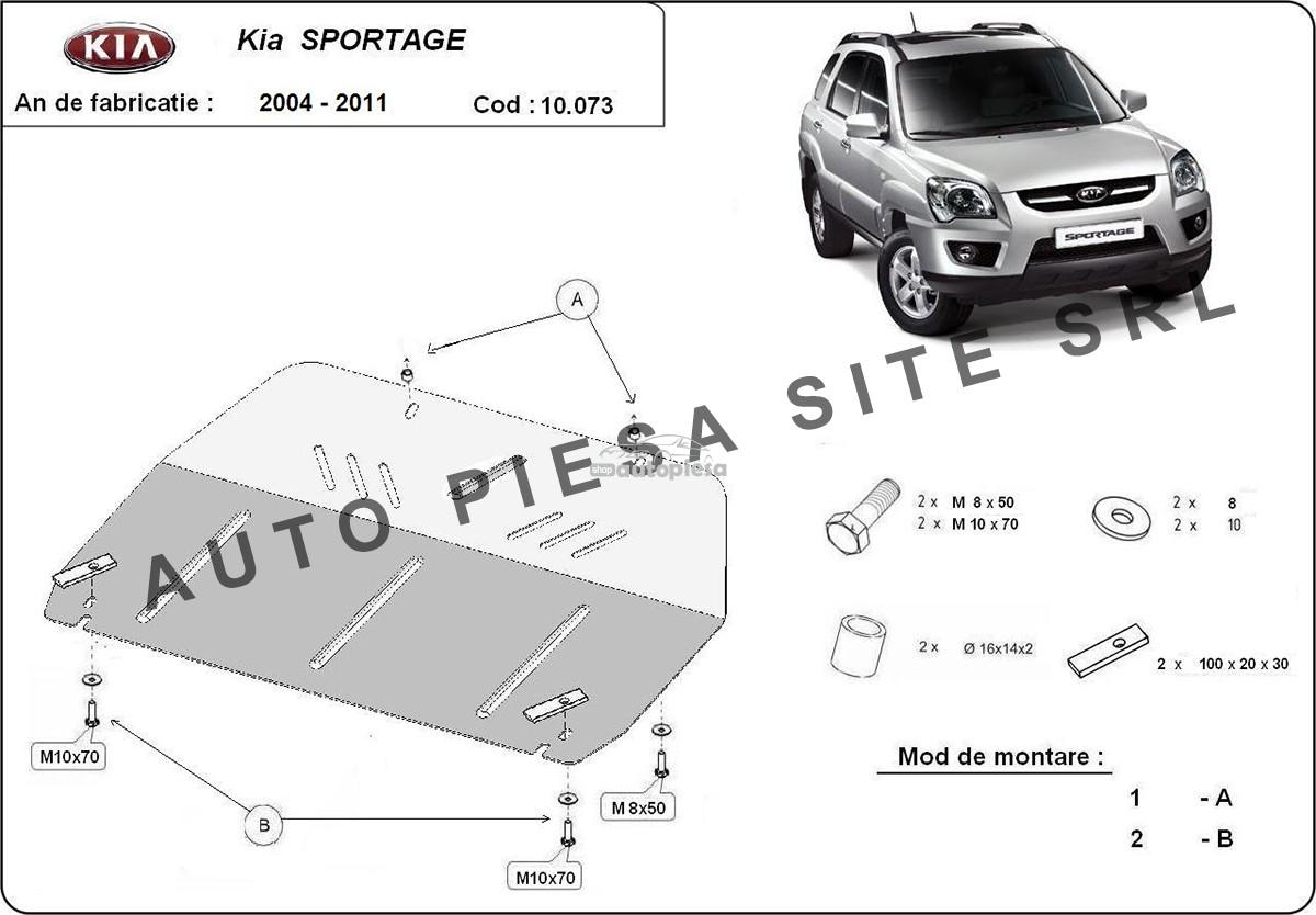 Scut metalic motor Kia Sportage (JE, KM) fabricata incepand cu 2004