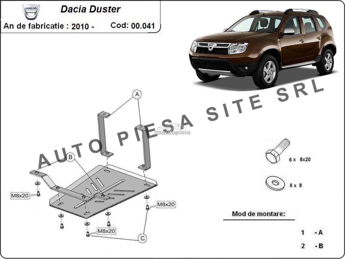 Scut metalic diferential Dacia Duster 4X4 fabricata in perioada 2010 - 2013