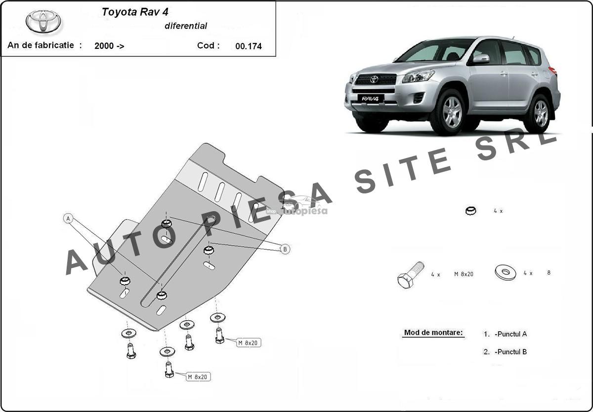 Scut metalic diferential Toyota Rav4 fabricata incepand cu 2006 00174-Toyota-Rav4-dif.jpg
