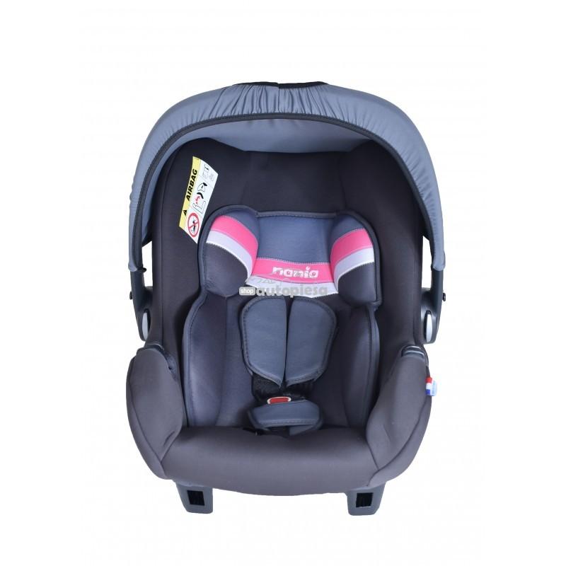 Scaun auto pentru copii grupa 0+ (0-1 an / 0-13 kg) roz Beone First Horizon NANIA