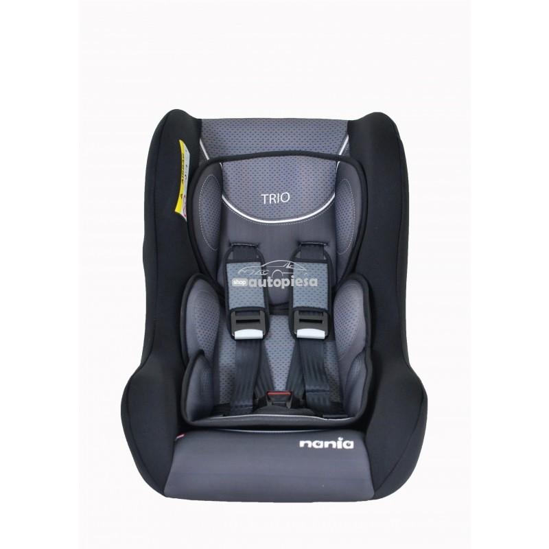 Scaun auto pentru copii grupa 0-1-2 (0-8 ani / 0-25 kg) negru Trio First Graphic NANIA