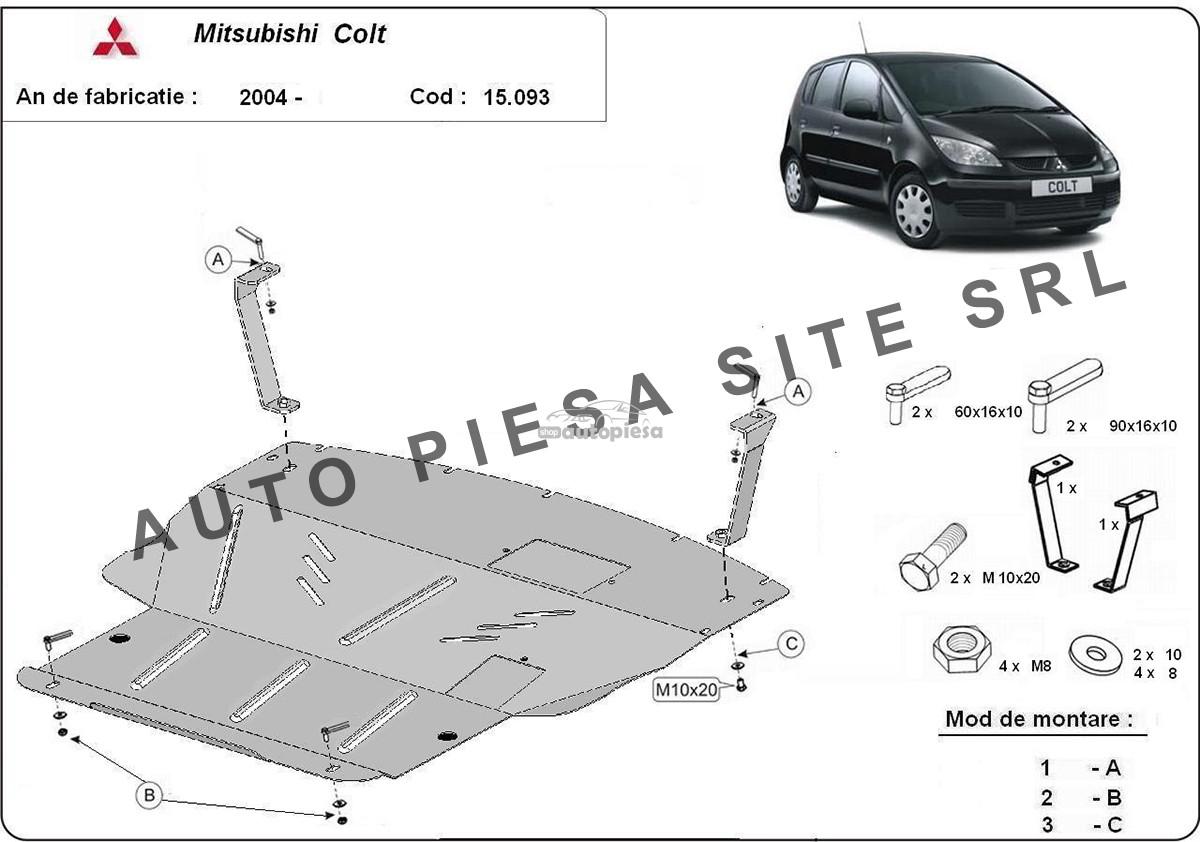 Scut metalic motor Mitsubishi Colt fabricat incepand cu 2004-