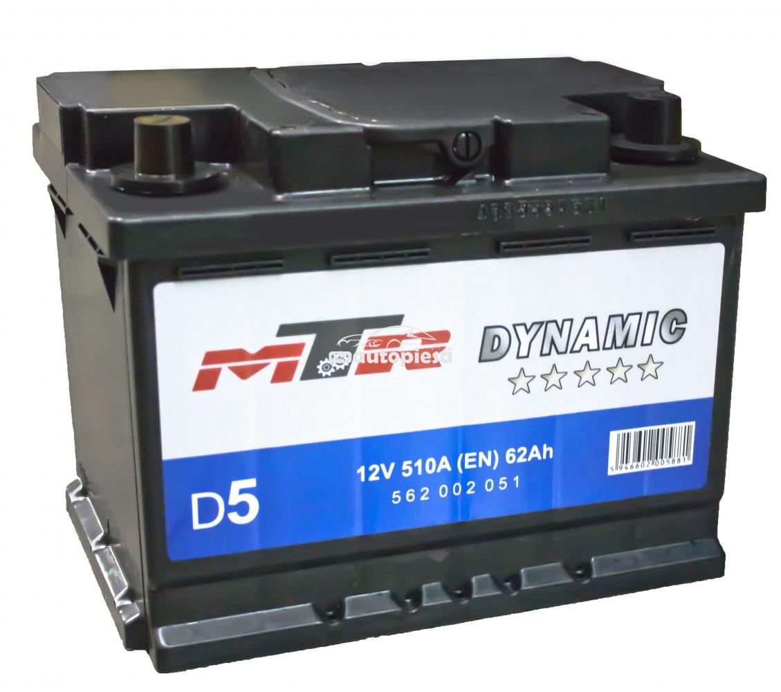 Acumulator baterie auto MTR Dynamic L2 62 Ah 510A