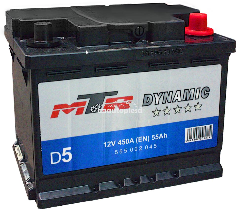 Acumulator baterie auto MTR Dynamic L2 55 Ah 450A