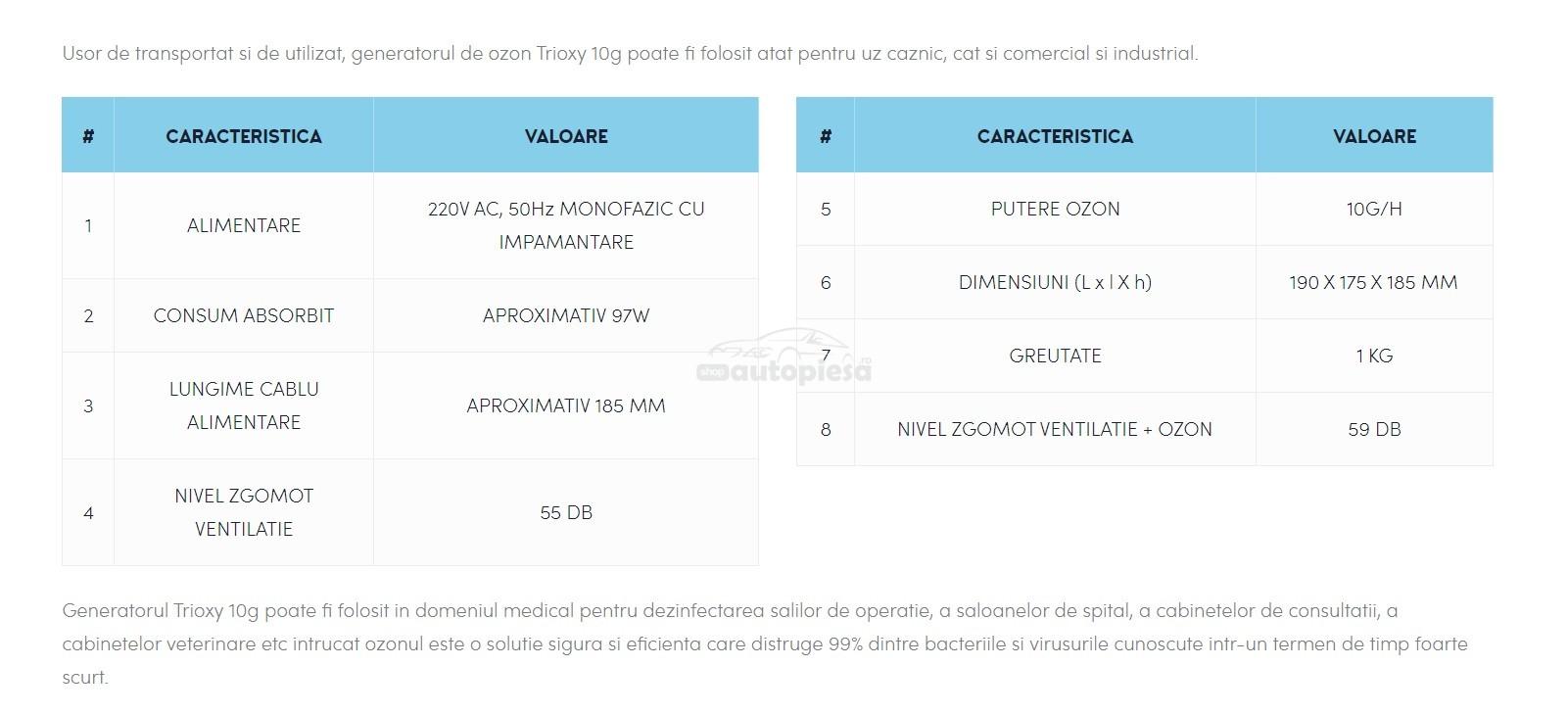 Generator ozon 10 gr/h, functie sterilizare, 100W TRIOXY generator-ozon-autopiesa-1.jpg