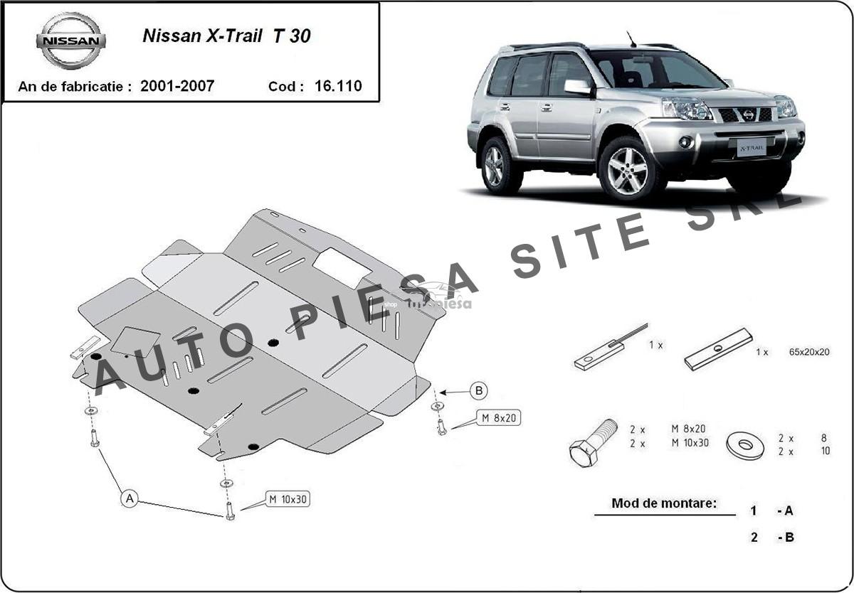 Scut metalic motor Nissan X-Trail fabricat in perioada 2001 -2007
