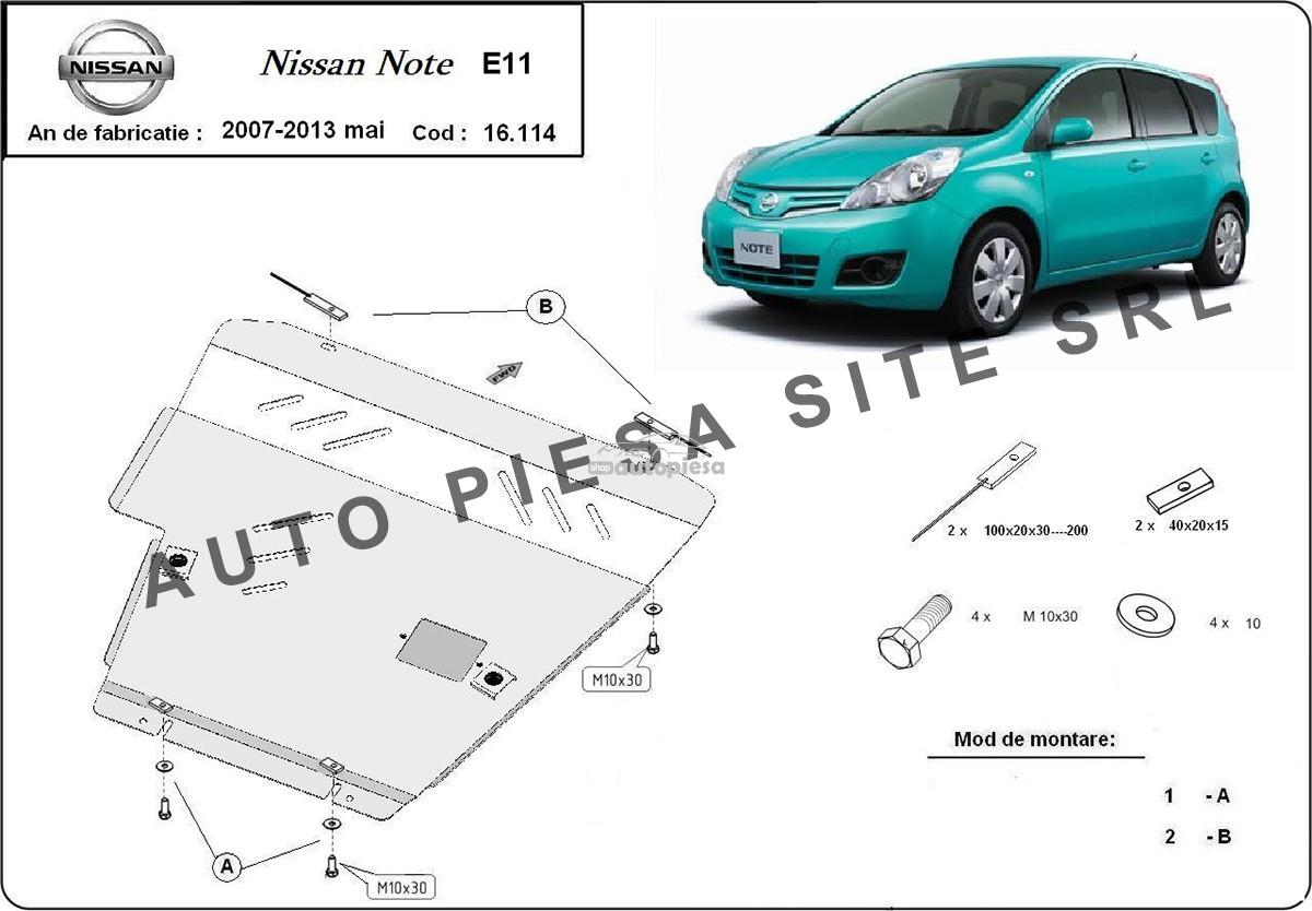 Scut metalic motor Nissan Note fabricat incepand cu 2007
