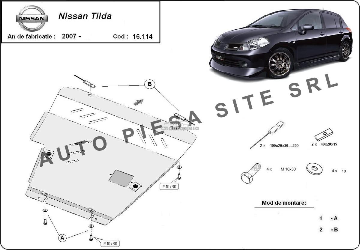 Scut metalic motor Nissan Tiida fabricat incepand cu 2007