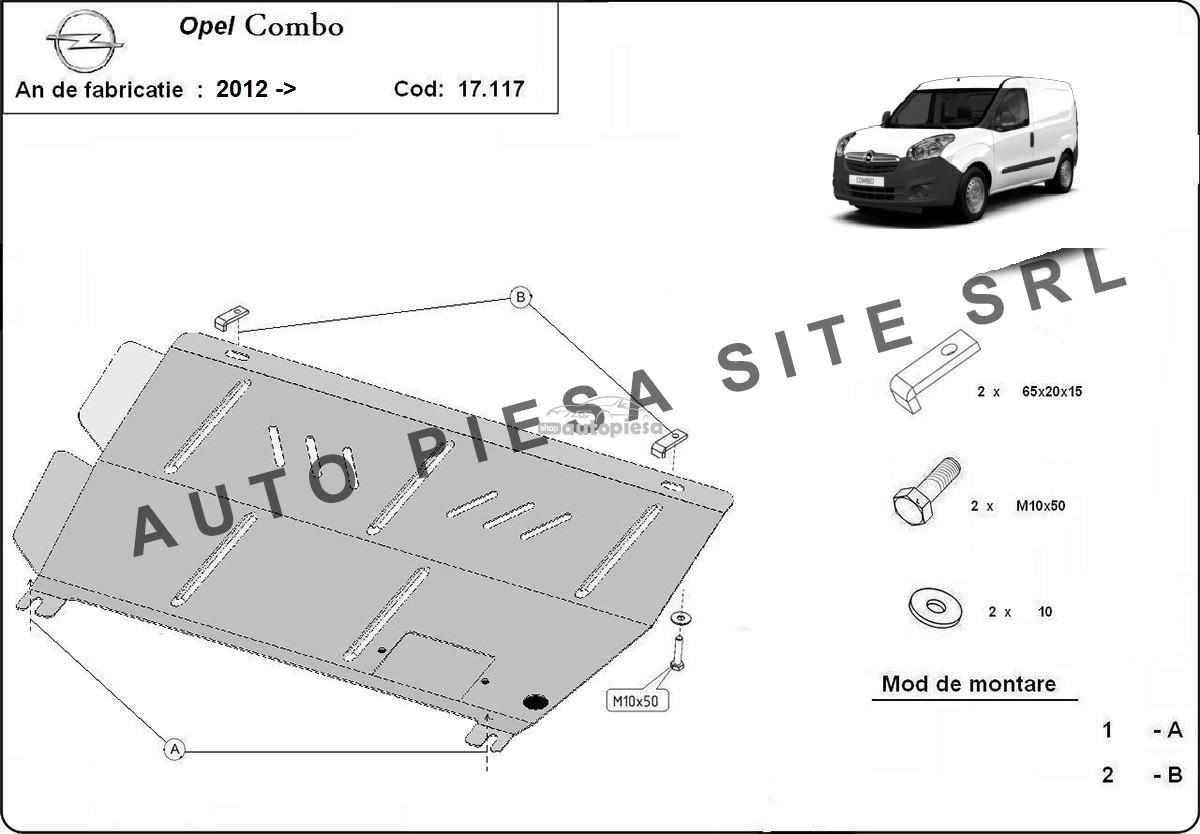 Scut metalic motor Opel Combo fabricat incepand cu 2012