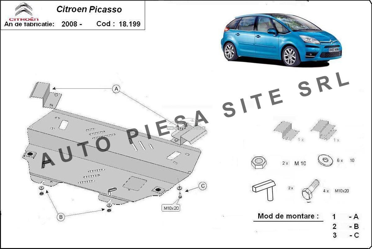Scut metalic motor Citroen C4 Picasso fabricat incepand cu 2008