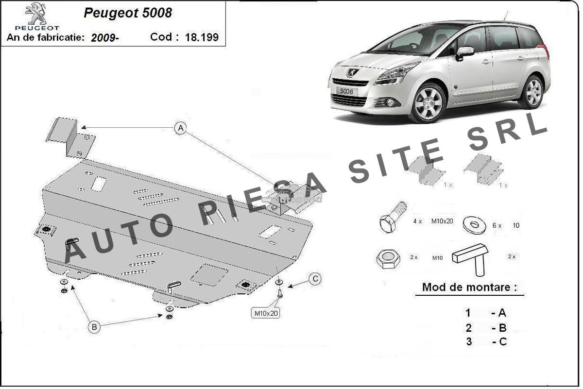 Scut metalic motor Peugeot 5008 fabricat incepand cu 2009