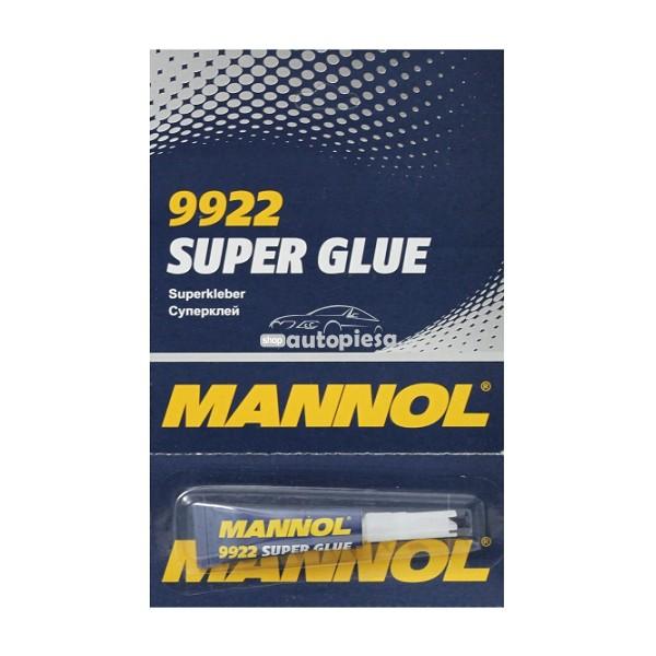 Lipici tip Super Glue MANNOL 2g (blister 6 buc)