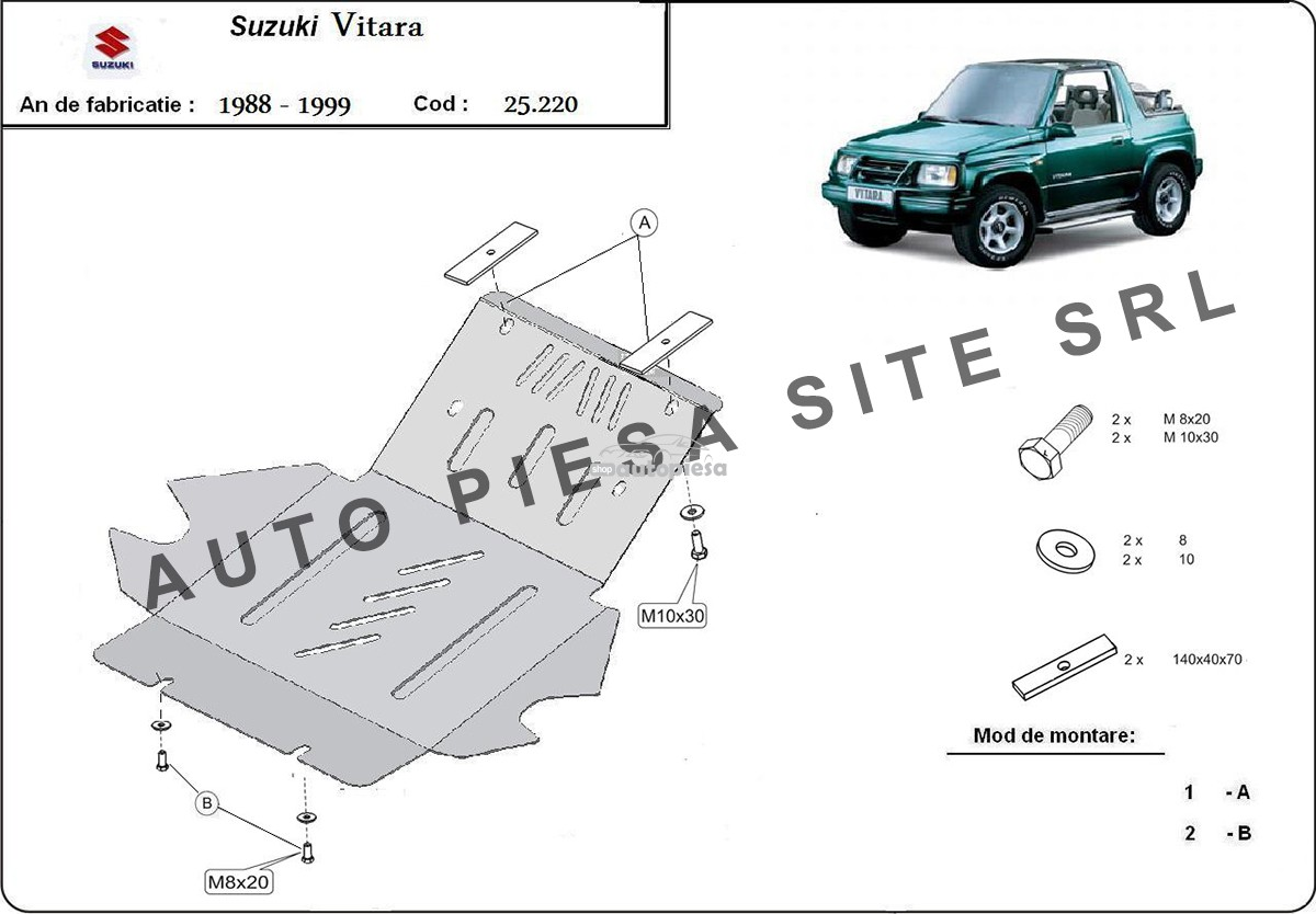 Scut metalic motor Suzuki Vitara fabricat in perioada 1988 - 1999