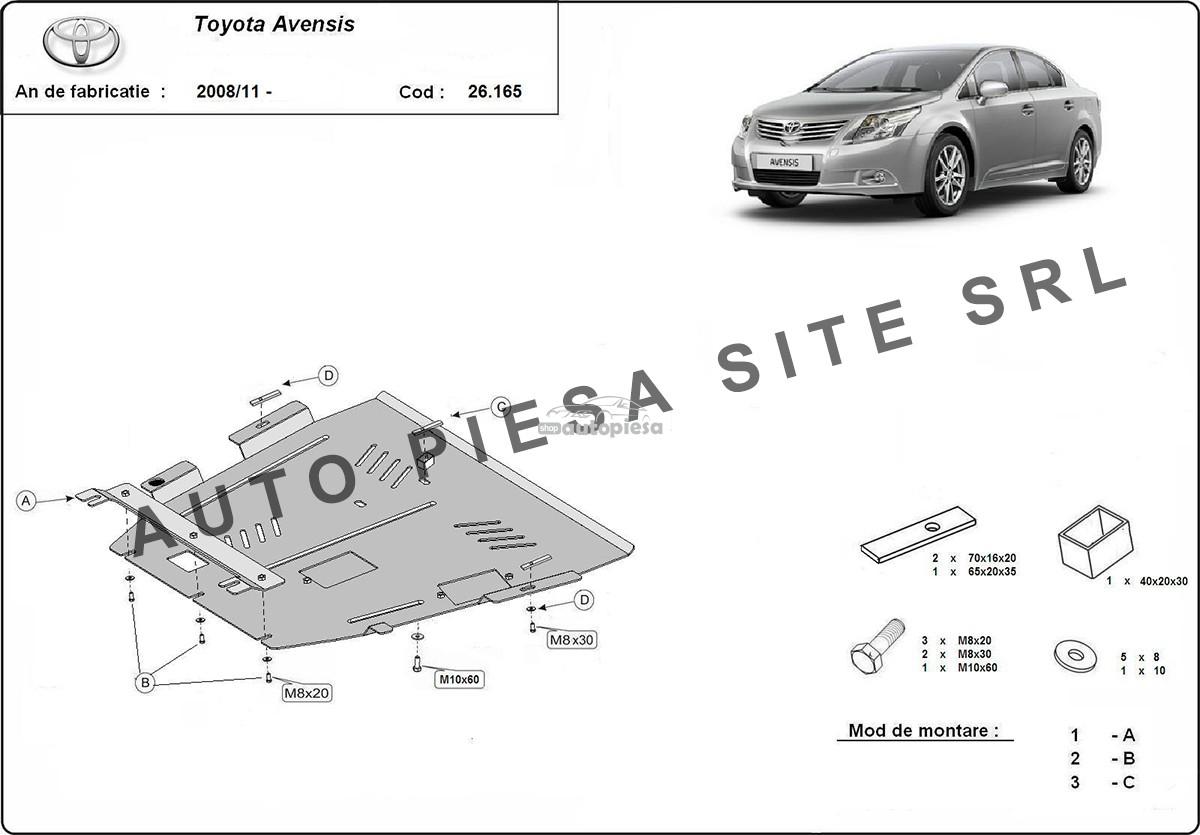 Scut metalic motor Toyota Avensis fabricata incepand cu 2008