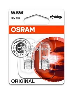Set 2 becuri Osram W5W 12V 5W