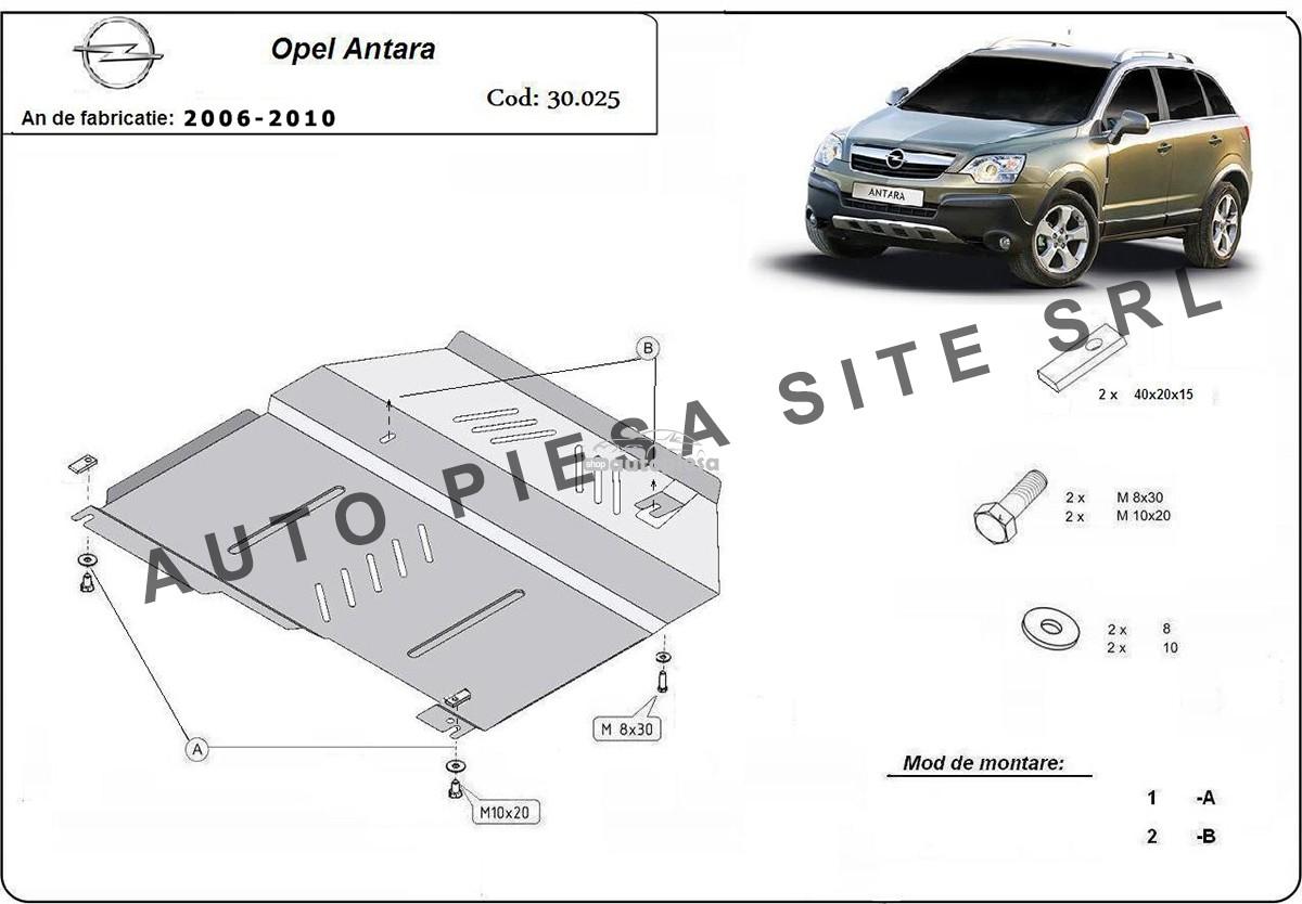 Scut metalic motor Opel Antara fabricat in perioada 2006 - 2010