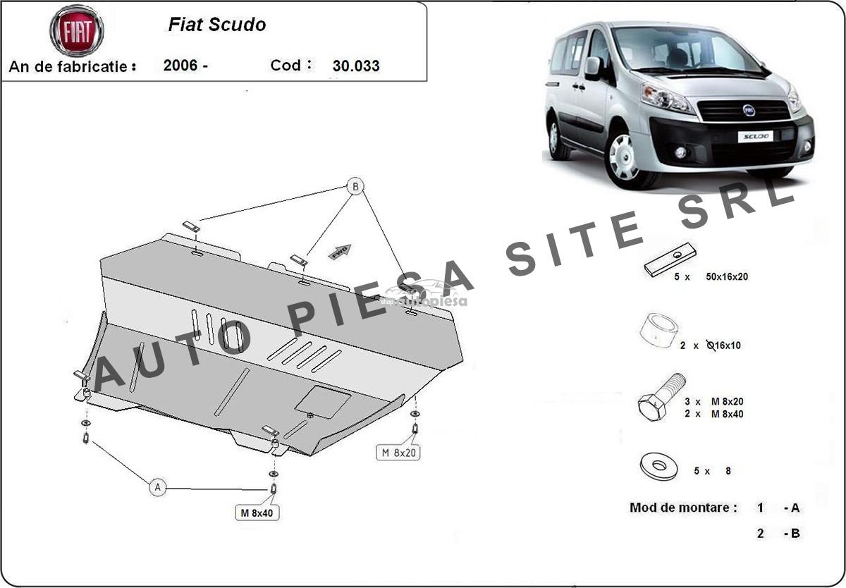 Scut metalic motor Fiat Scudo fabricat incepand cu 2006