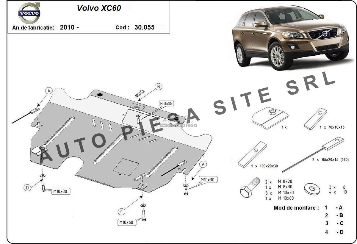 Scut metalic motor Volvo XC60 fabricat incepand cu 2010