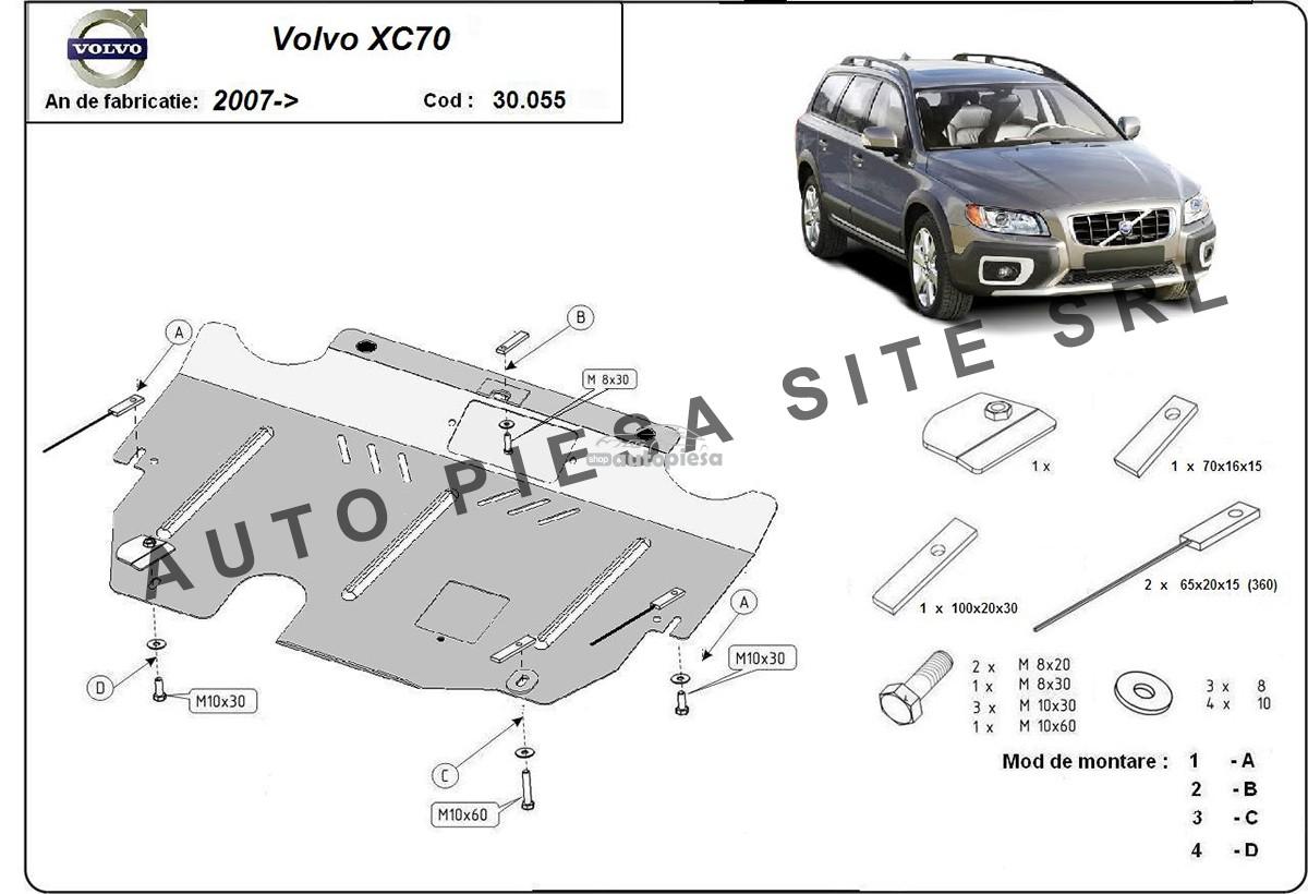 Scut metalic motor Volvo XC70 2.0D / 2.4D fabricat incepand cu 2007