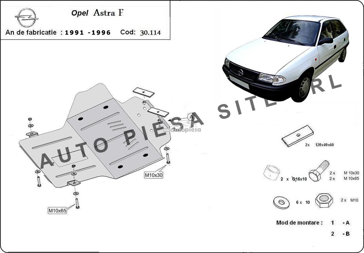 Scut metalic motor Opel Astra F fabricat in perioada 1991 - 1996