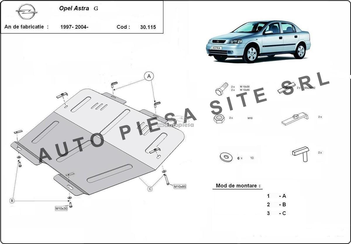 Scut metalic motor Opel Astra G
