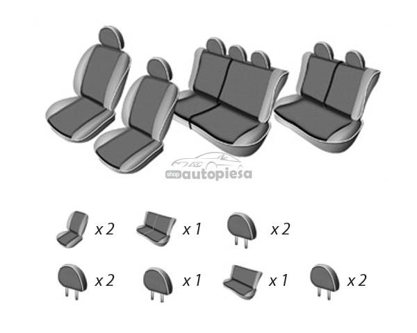 Set huse scaune DACIA LOGAN MCV 7 locuri (bancheta fractionata) UMBRELLA