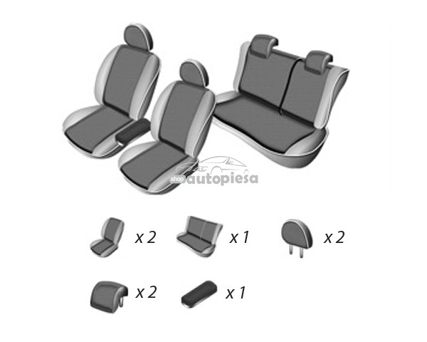 Set huse scaune SKODA OCTAVIA III 2013 - prezent UMBRELLA
