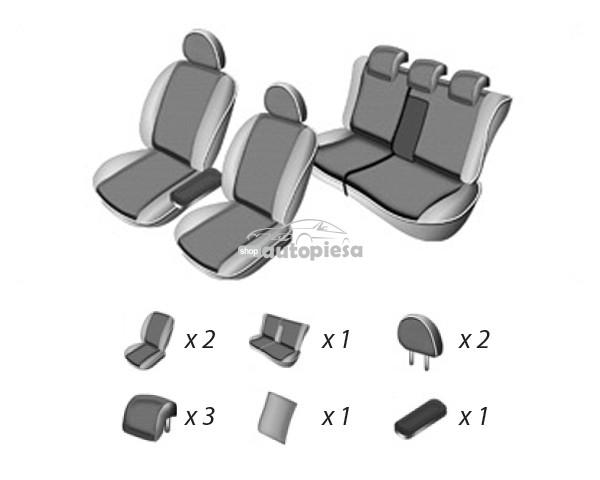 Set huse scaune VW GOLF PLUS 2004 - 2009 UMBRELLA