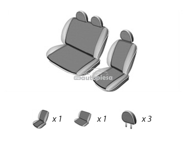 Set huse scaune VW LT 46 (1+2) 1996 - 2006 UMBRELLA