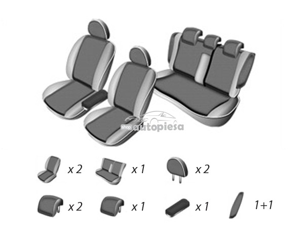 Set huse scaune VW PASSAT B7 variant 2010 - prezent UMBRELLA