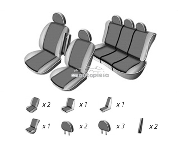Set huse scaune VW SHARAN 5 locuri 1995 - 2010 UMBRELLA